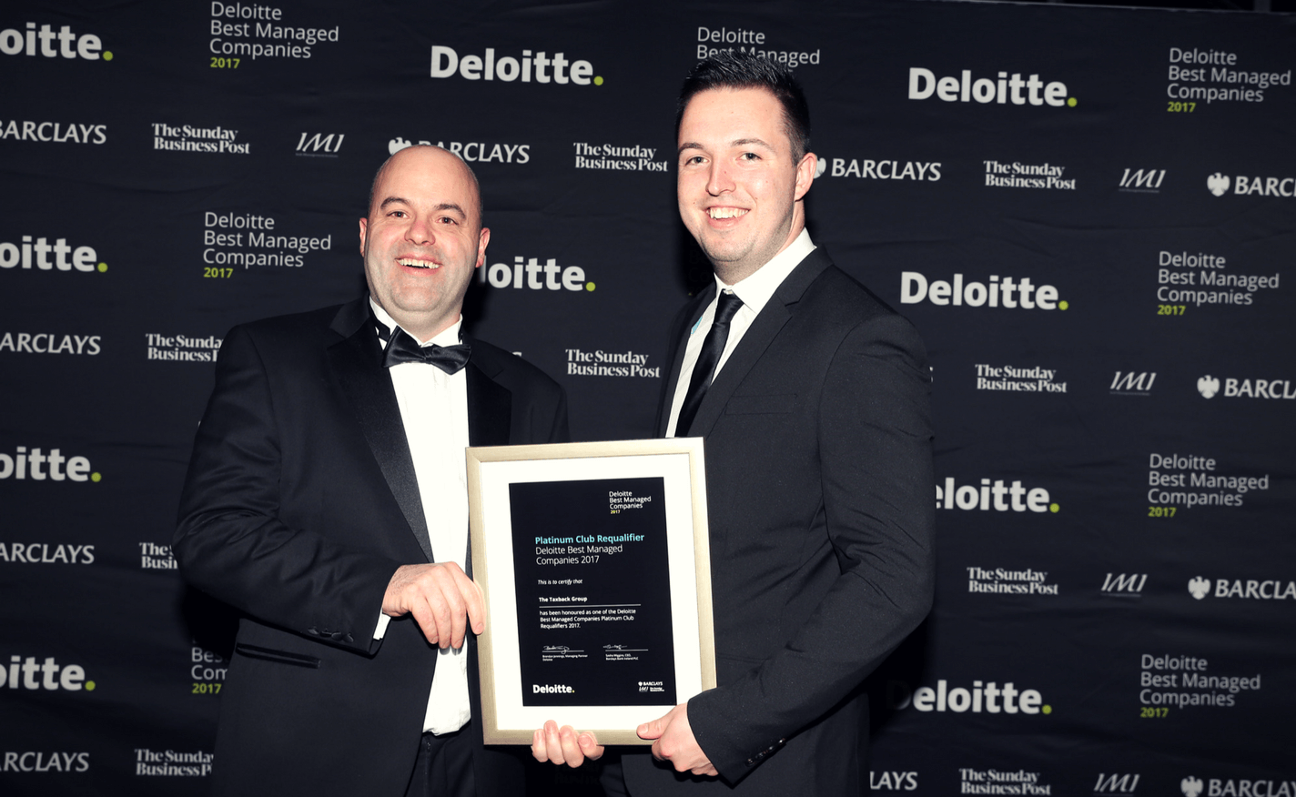 Taxback Group retains Deloitte Platinum Award