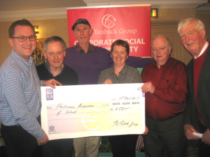 John presenting a cheque at the Parkinson's Association Tipperary Branch AGM.